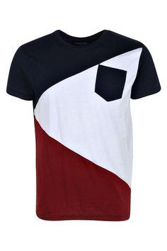 Spliced Colour Block T Shirt