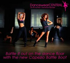 Capezio DS34 Battle Boot Dance Sneakers From £49.95 Let your feet speak for themselves as you battle it out wearing this feisty new design from Capezio. The DS34 Battle Boot offers a light weight and split sole design whilst the padded high top collar with velcro closure ensures your street style meets your studio style. Also features PU and polyester uppers with lateral elastic stays for additional security.
