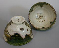 Japanese pottery - oribe tea cups