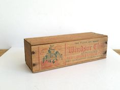 Vintage Wood Cheese Box . Antique Cheesebox . by 3WrenStreet