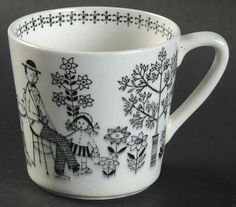 Emilia Flat Demitasse Cup by Arabia of Finland