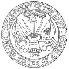 Army Drawing Designs Department Of The Army Seal And