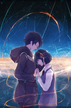 Kimi no Na wa (Your Name) Main Theme (Sparkle) - 君の名は/Radwimps Lyrics スパークル Fanart Manga, Manga Art, Manga Anime, Kimi No Na Wa, Manga Love, Anime Love, Images Kawaii, Anime Quotes Tumblr, Love Quotes Tumblr