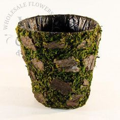 Moss / Bark Bowl at Wholesale Flowers and Supplies Wholesale Flowers And Supplies, Buy Moss, Wooden Containers, Flower Vases, Wedding Events, Basket, Rustic Outdoor, Outdoor Weddings, Tables