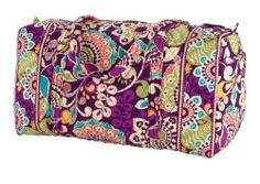Vera Bradley Plum Crazy Large Duffle I NEED THIS FOR MY BIRTHDAY OR CHRISTMAS OR SOMETHING