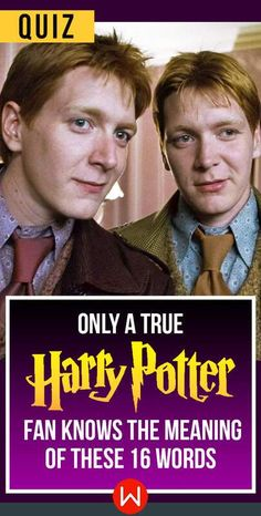 You'll need some Felix Felicis for this one. Fred and George challenge you to take this Harry Potter Quiz. HP Trivia. Weasley twins. HP questions only Potterheads can get.