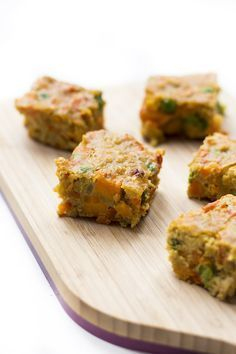 Curried Lentil bake, a perfect finger food making it great for baby-led weaning (blw) Can be enjoyed cold and great for a packed lunch box.
