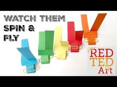 Paper Helicopter DIY - STEM for Kids - Red Ted Art's Blog