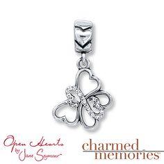 Charmed Memories Light Blue Heart Charm Sterling Silver fFhlMC0ij
