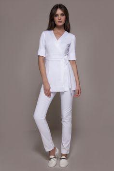 Spa Nagoya uniform, Couture Spa Tunic, Fashionable Spa Attire, Blusa para Spa, uniforme de Spa, tunica de Spa