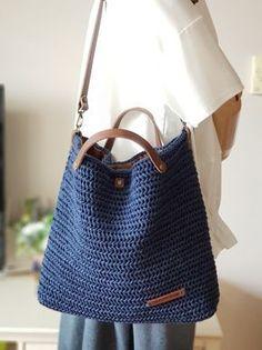 - (notitle) -#handmadebags2019 #handmadebagseasy #handmadebagsfabric #handmadebagslogo #handmadebagstote Free Crochet Bag, Crochet Market Bag, Crochet Tote, Crochet Handbags, Knit Crochet, Crotchet Bags, Knitted Bags, Bag Pattern Free, Crochet Instructions