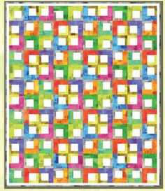 """Text Tiles - 3 1/2"""" blocks surrounded but 1 1/2"""" and 2 1/2"""" strips"""