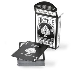 Black (Reversed) Bicycle Deck - Reverse Backed Poker sized Bicycle Deck in Black. Designed by Magic Makers, Inc. & printed by US Playing Co. Bicycle Deck, Bicycle Cards, Learn Card Tricks, Magic Tricks For Kids, Black Deck, Learn Magic, Adult Fun, Deck Of Cards, Card Deck