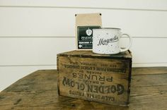 Whether used for tea or coffee, this speckled Magnolia White Campfire mug will bring some Magnolia style to a Fixer Upper fan's morning routine.