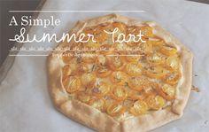 Good Eats   Simple Summer Yellow Tomato Tart   PepperDesignBlog.com
