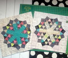 English paper pieced blocks by Katy Jones of I'm a Ginger Monkey