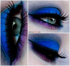 Urban Decay Electric Pressed Pigment Palette Look :: Electric Blue