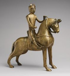 Aquamanile in the Form of a Knight on Horseback, mid-13th century  German (Lower Saxony, probably Hildesheim)  Copper alloy