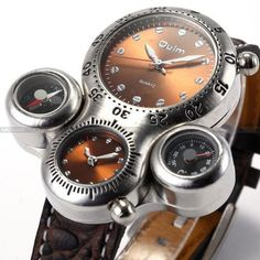49478b34f99f Big Case Dial Mens Military Dual Time Zone  watch  time  chronograph   MensWatches