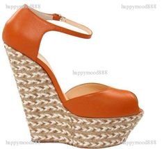 2012 NEW Candy colors wedges thick bottom platform shoe peep-toe sandals on TradeTang.com