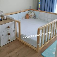 30 Smart Baby Toddler Bedroom Design Ideas to Inspire You is part of Baby furniture It takes enough creativity to make your child's room more attractive and unique The design of a toddler room is - Baby Bedroom, Baby Boy Rooms, Baby Room Decor, Baby Cribs, Room Baby, Baby Playpen, Girl Rooms, Bedroom Wall, Diy Crib