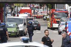 Islamist knifemen slit priest's throat in church in France