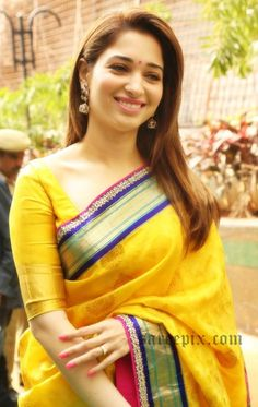 tamanna-yellow-saree-manepally-jewellery