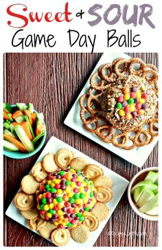 Start your Game Day party with a bang with these sweet and sour cheese balls. They are topped with two types of Skittles candy and are super easy to make. #gameday #cheeseball #skittles Appetizers For Party, Appetizer Recipes, Cranberry Cheese, Sour Taste, Cheese Ball Recipes, Sour Candy, Holiday Recipes, Balls