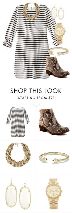 """snakes n stripes"" by whitegirlsets ❤ liked on Polyvore featuring Lucky Brand, Nouv-Elle, David Yurman, Kendra Scott, Michael Kors, women's clothing, women's fashion, women, female and woman"