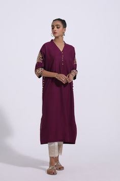 EMBROIDERED SHIRT (WTR311494) | ETHNIC