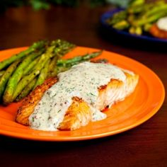 Broiled Salmon with Creamy Mustard Dill Sauce