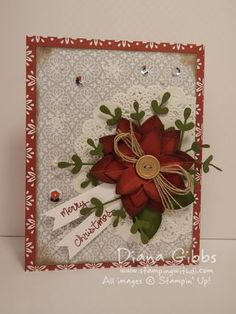 MAMMa's card full from Diana Gibbs blog - SU - Christmas - Endless Wishes