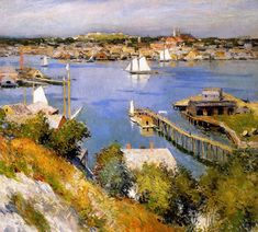 Gloucester Harbour Sun puzzle in Piece of Art jigsaw puzzles on TheJigsawPuzzles.com. Play full screen, enjoy Puzzle of the Day and thousands more.