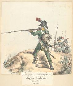 Italian; Legion Italique, Grenadier, 1800