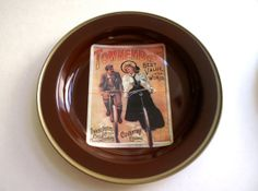 Round Tin Trays by Nevco Vintage Ads by RinnovatoVintage on Etsy, $22.00