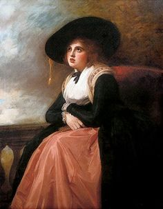 George Romney, Portrait of Emma, Lady Hamilton in Morning Dress (Private Collection)