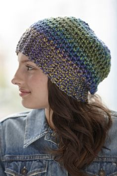 The Metropolitan Ave. Hat is a free pattern in Lion Brand's new bulky yarn, Unique!