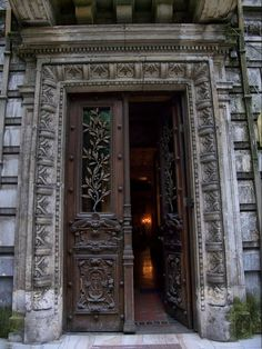 *Doors of Bucharest* Monteoru House, Bucharest, Romania Stairs Window, Doorway, Grand Entrance, Entrance Doors, Old Doors, Windows And Doors, Open Door Policy, Art Nouveau, Little Paris