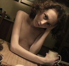 morning coffee Nadya by Pavel Kiselev