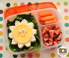 """You are my sunshine"" bento...For more creative ideas for school lunches visit https://www.facebook.com/SchoolLunchIdeas"