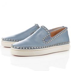 Mens Christian Louboutin Pik Boat Flat Sneakers -Discount mens,Cheap Louboutins,Red Bottoms