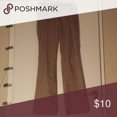 Forever 21 Tan and brown strip Dress pants Forever 21 Tan and brown Strip dress pants. Forever 21 Pants