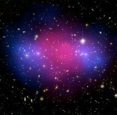 Powerful Cosmic Collision Creates Divorce of Matter  Credit: X-ray(NASA/CXC/Stanford/S.Allen); Optical/Lensing(NASA/STScI/UC Santa Barbara/M.Bradac)