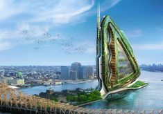 vincent callebaut architectures: dragonfly vertical farm concept in new york