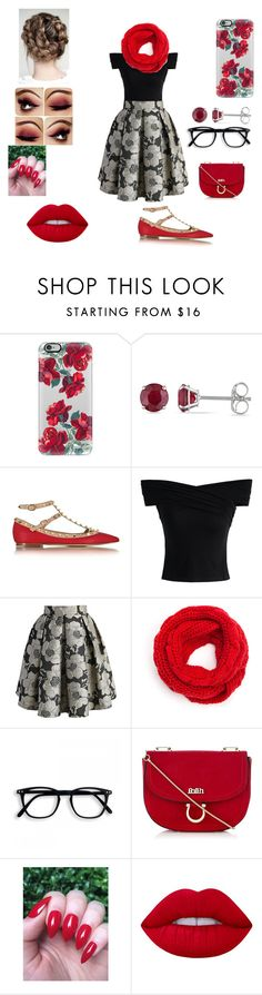 """Rememberence ceremony at school"" by beautasticforev ❤ liked on Polyvore featuring Casetify, Allurez, Valentino, Chicwish, Lipsy and Lime Crime"