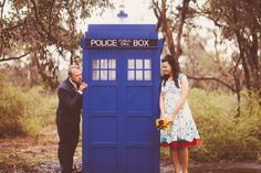 Quite possibly the cutest casual wedding ever! || It has a Tardis!