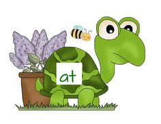 This activity includes four turtles (includes at, ad, an, ap) and 6 words from each word family.