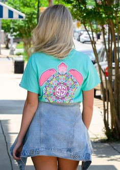 Today, were discussing how to create a fun summer outfit with Simply Southern. Simply Southern tees are all the rage with their bright colors and cutesy sayings. We paired this graphic tee with a denim jacket and denim shorts for an easy outfit. Southern Fashion, Denim Outfits, Simply Southern Tees, Thunder, Fashion Brand, Denim Skirt, Boutique, Casual, Skirts