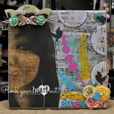 Mixed Media Canvas by Ms. Ruin's Playthings.  Details on my blog.