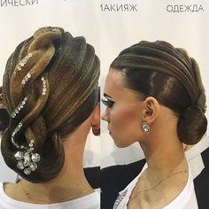Ballroom hairstyle and make-up Darya Stolbova имидж-студия @artecreo #ballroom #ballroommakeup #ballroomhairstyle